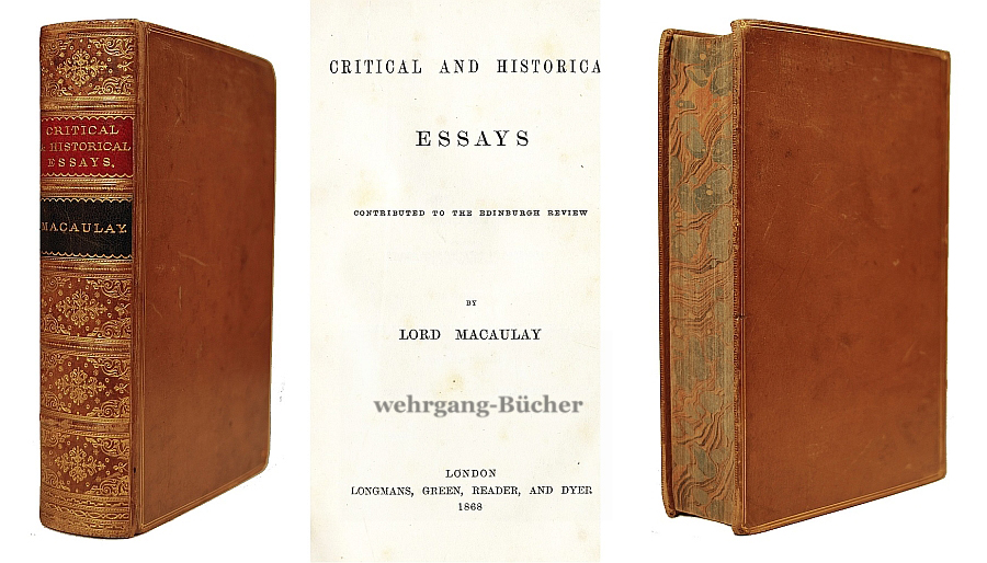 macaulay critical and historical essays